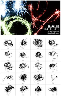"Free Photoshop Brushes: ""Sparkling Light Effects"""