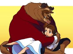 Beauty and the Beast (Disney) - Beast, Prince Adam x Belle Disney Fan Art, Disney Love, Disney Magic, Disney Stuff, Disney Films, Disney And Dreamworks, Disney Pixar, Beauty And The Beast Movie, Beauty Beast