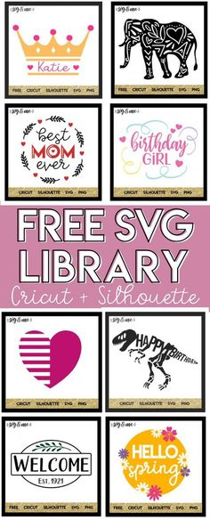 OMG! Hundreds of totally FREE SVG cut files for Cricut and Silhouette for all your DIY project needs. You seriously can't miss this svg library of mermaid, unicorn, monogram, holiday designs and more! #cricut #silhouette #svg