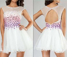 Real Made O-Neck Homecoming Dresses ,Colorful Beading Graduation Dresses,Homecoming Dress,Short/Mini Homecoming Dress