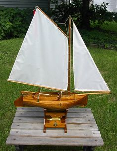 Pond Yacht I made for my son.