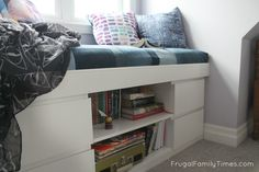 How to DIY a Simple Built-in Window Seat (an Ikea Hack!) | Frugal Family Times