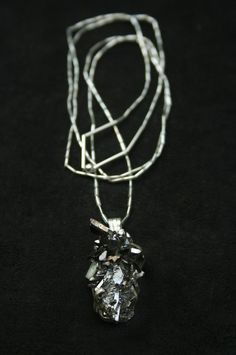 steel colored druzy necklace