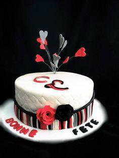 Hearts & Roses Cake