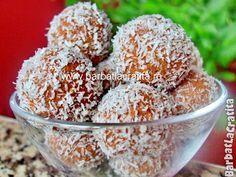 Bombiţe cu cocos şi biscuiţi (fără coacere) Biscuit, Cookie Recipes, Gem, Sugar, Cookies, Cake, Desserts, Cappuccinos, Gypsy