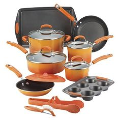Rachel Ray cookware in orange :)