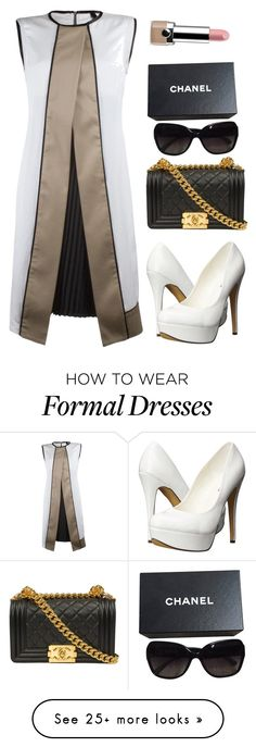 """""""Lol formal idk"""" by princessfetty1738 on Polyvore featuring Michael Antonio, Chanel, Marc Jacobs, women's clothing, women, female, woman, misses and juniors"""