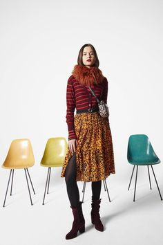 Sonia by Sonia Rykiel Fall 2016 Ready-to-Wear Fashion Show Don't like the structure of the skirt, but love this colour combination http://www.vogue.com/fashion-shows/fall-2016-ready-to-wear/sonia-by-sonia-rykiel/slideshow/collection#6