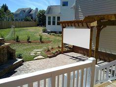 Outdoor movie theater- DIY idea.