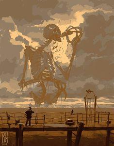 """Visual Necromancy"": The Amazing Art By Boris Groh Dark Fantasy Art, Fantasy Magic, Fantasy Artwork, Arte Horror, Horror Art, Art Sinistre, Arte Obscura, Creepy Art, Macabre"