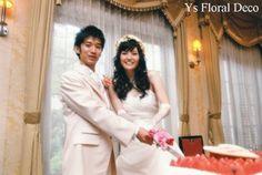 hk0011 リースバッグブーケにあわせるアーティフィシャルフラワーの花冠 @キャメロットヒルズ ys floral deco