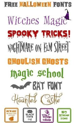 Free Halloween Fonts by lucile