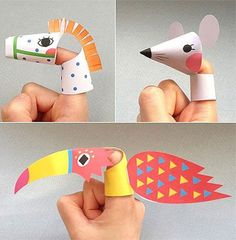 paper roll puppets