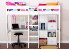 High Sleeper Bed  Desk and Storage