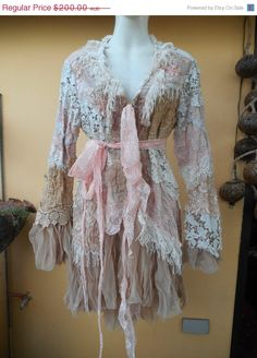 20 OFF vintage inspired extra shabby jacket....small by wildskin, $160.00