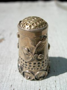 Antique Handmade Sterling Silver Sewing Thimble