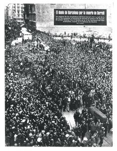 El Duelo de Barcelona por la Muerte de Durruti
