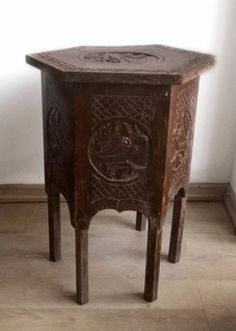 SewingmachinebasetableThonetBentwood Vintage Design Items - Six sided table