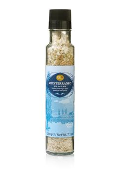 Aromatic Italian blend of sea salt and a variety of herbs and spices in a stylish and refillable spice grinder. This will allow you to season fish, poultry and pork to an excellent extent!