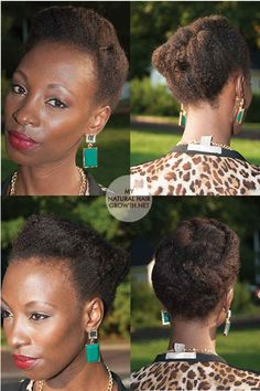 The Simple Tuck and Pin | 29 Awesome New Ways To Style Your Natural Hair