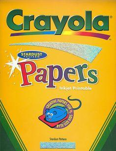 120 Sheets of Crayola Stardust Sparkle Inkjet Printable Paper