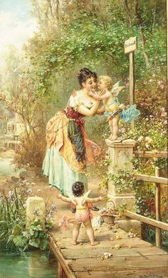 Hans Zatzka Art painting