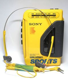 Loved my yellow Walkman back in the day...