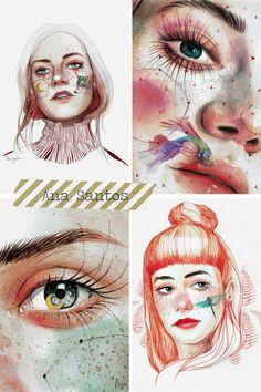 Watercolor Portraits, Watercolor Paintings, Watercolor Classes, Portrait Inspiration, Art Journal Inspiration, Gouache Painting, Freelance Illustrator, Art World, Cute Art