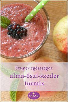 Szuper egészséges szeder-őszibarack-alma turmix
