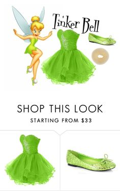 """""""Untitled #70"""" by powerofanimalmagic ❤ liked on Polyvore featuring Ellie, disney, peterpan, tinkerbell and tink"""