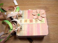 Friends Premade Mini Scrapbook Album Friends Mini by HampshireRose, $30.00