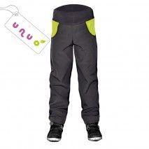 Softshellové kalhoty DUO Zelené 98-104 Unuo