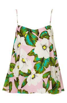 Topshop 'Hawaiian Floral' Print Camisole