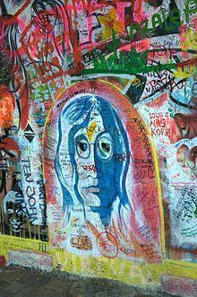 Lennon Wall - Prague, Czech Republic