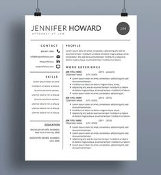 Resume Templates Mac Resume Template  Cv Template  Cover Letter  Modern Resume