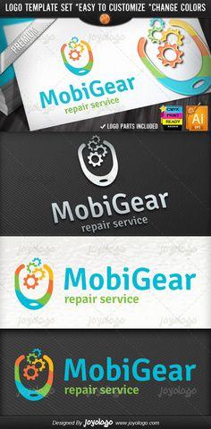 Pixel Gears Mobile Application Builder Logo Template Pixel Mobile, Mobile Logo, Logo Design Template, Logo Templates, Logan, Mobile Connect, Gear Logo, People Logo, Mobile Application