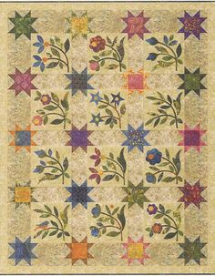 Spring Sprouts applique quilt pattern by Edyta Sitar of Laundry Basket Quilts
