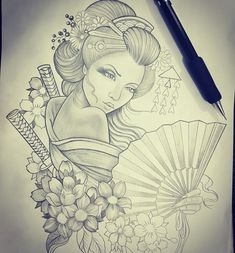 64 Ideas Japanese Tattoo Drawings Geishas For 2019 Japanese Tattoo Women, Geisha, Picture Tattoos, Japanese Tattoos For Men, Geisha Tattoo Design, Japanese Tattoo Art, Tattoo Stencils, Tattoo Designs, Tattoos Gallery