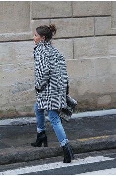 Manteau pied de poule - www.noholita.fr