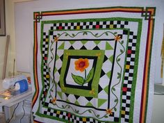 Wonderful... I did the black and white checkered boarder on this one. Many years ago. Such a great quilt to work with.