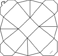 Chinese Take Out Box template - now if you don\'t cut the corners ...