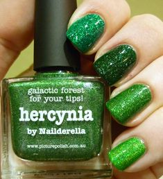 Dance Legend Strutter | piCture pOish kryptonite | piCture pOlish hercynia | Colors by llarowe Gemini rising  -   Bottled Colours: Dupe  - Cold Green holo