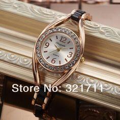 2014 New Designer Women Fashion Vintage Watch Crystals Rhinestone Round Dial Anolag Dress Wrist Watch Female Clock Drop Shipping