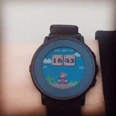 Super Mario Uhr, gif'd   Das Kraftfuttermischwerk