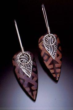 Carved Leaf Earrings