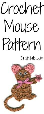 Crochet Mouse Magnet: Add a magnet at the back and this crochet pattern can double as a fridge magnet. Crochet Butterfly Pattern, Crochet Pumpkin Pattern, Crochet Mouse, Crochet Gifts, Free Crochet, Crochet Granny, Crochet Hook Sizes, Thread Crochet, Easter Crochet