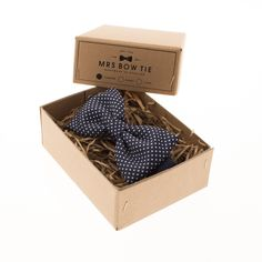 Pin Dots Navy Blue | Mrs Bow Tie | $35.87 | ~