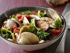 Sausage and Clam Soup from FoodNetwork.com