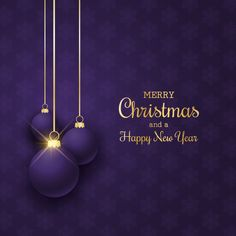 Elegant Christmas Background With Hanging Purple Baubles Vector and PNG Funny Merry Christmas Images, Christmas Flyer, Elegant Christmas, Merry Christmas And Happy New Year, Christmas Greetings, Christmas Jesus, Christmas Scenes, Christmas Quotes, Family Christmas