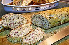 Zwiebel-Käse-Schinken-Brot